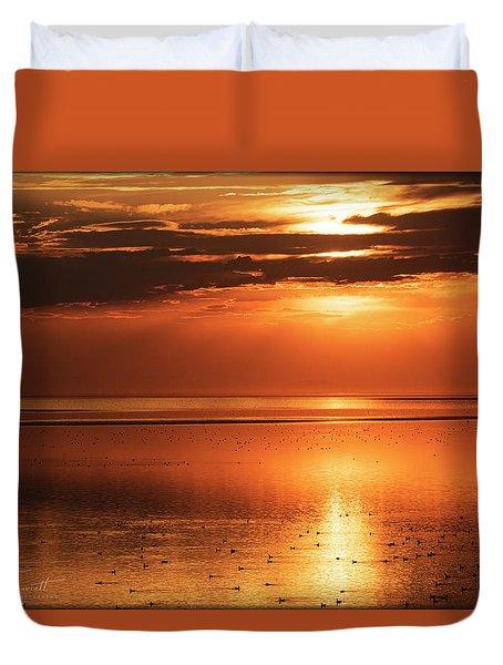 Golden Light Duvet Cover