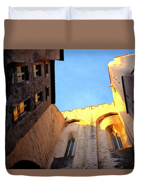 Golden Light In Avignon Duvet Cover