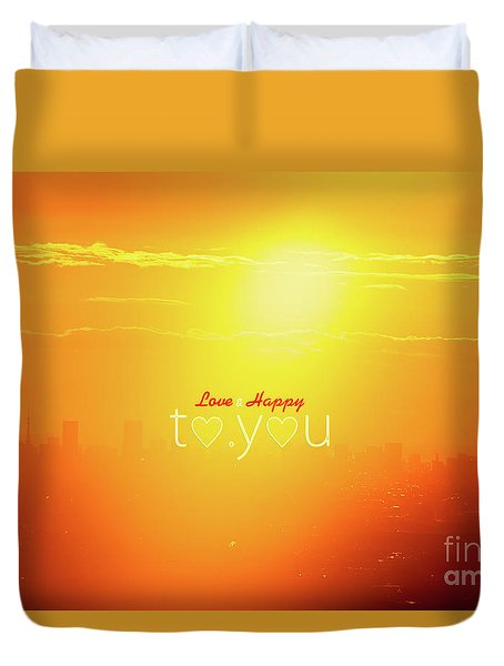 Duvet Cover featuring the photograph To You #002 by Tatsuya Atarashi