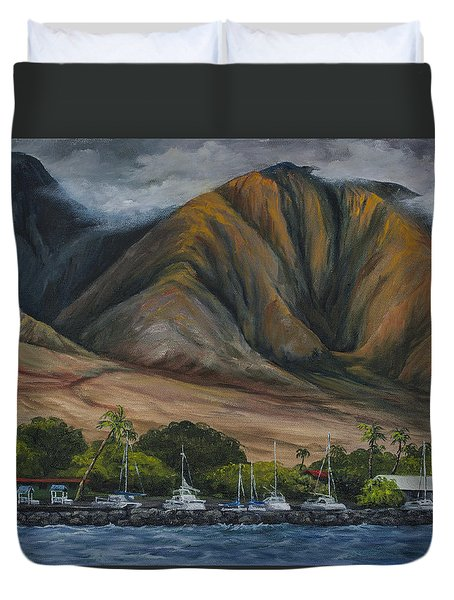 Golden Light West Maui  Duvet Cover