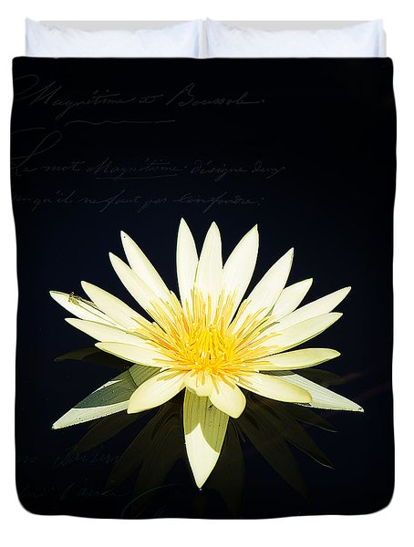 Golden Lily Duvet Cover