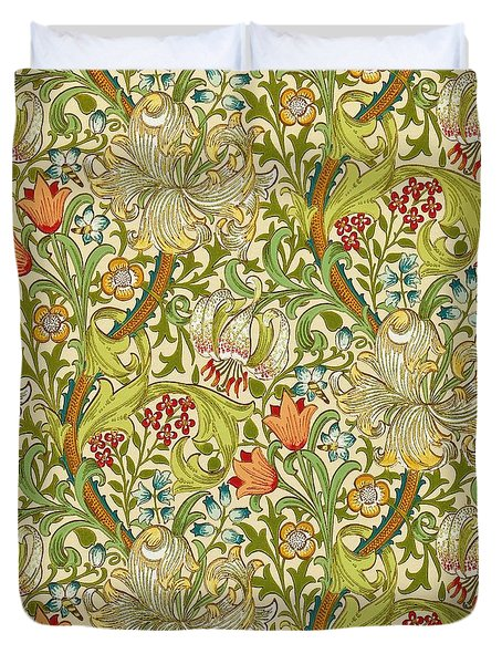 Golden Lily Duvet Cover by William Morris