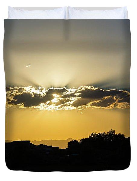 Golden Lining Duvet Cover