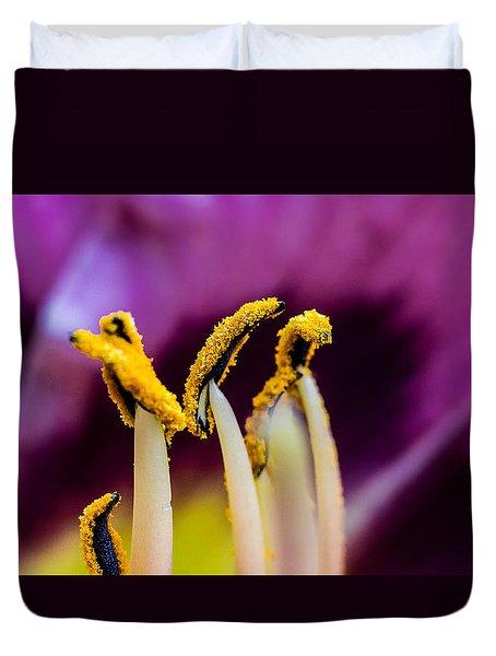 Golden Macro Duvet Cover