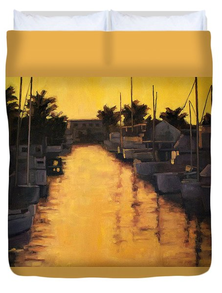 Golden Marina 2 Duvet Cover