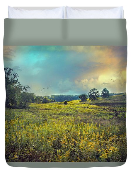 Golden Meadows Duvet Cover