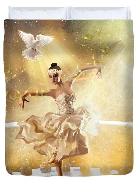 Golden Moments Duvet Cover