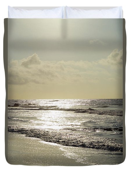 Golden Morning At Folly Duvet Cover