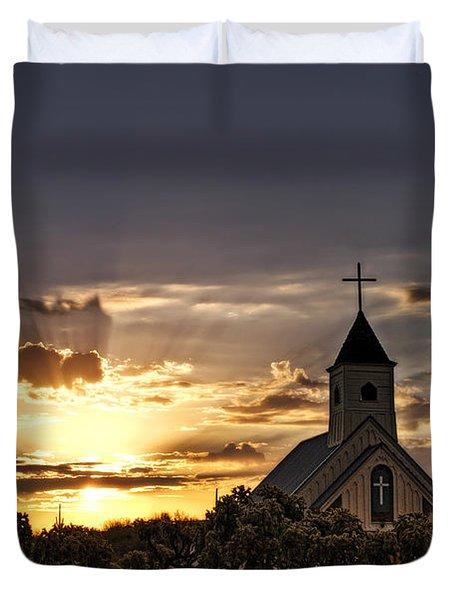 Golden Morning Light  Duvet Cover by Saija  Lehtonen