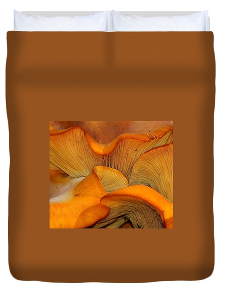 Golden Mushroom Abstract Duvet Cover