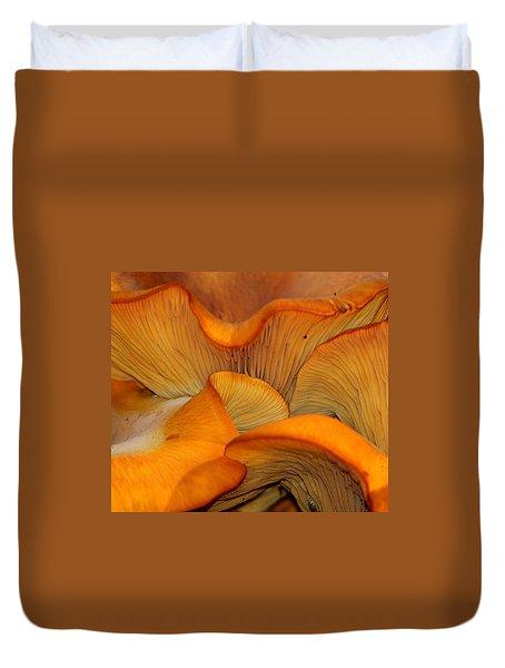 Golden Mushroom Abstract Duvet Cover