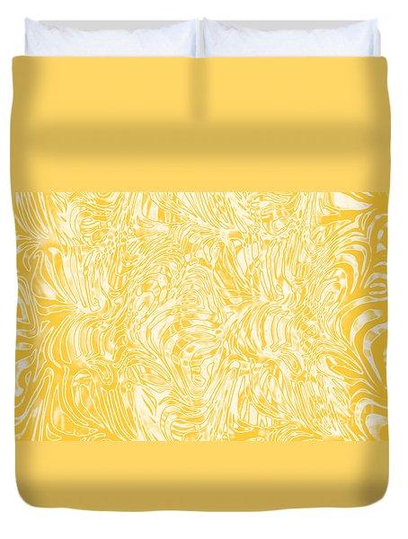 Golden Duvet Cover by Nareeta Martin