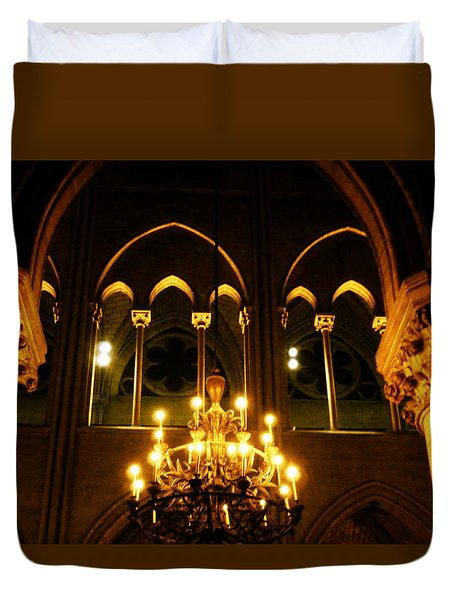 Golden Notre Dame Duvet Cover