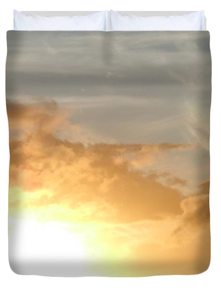 Golden Oahu Sunset Duvet Cover
