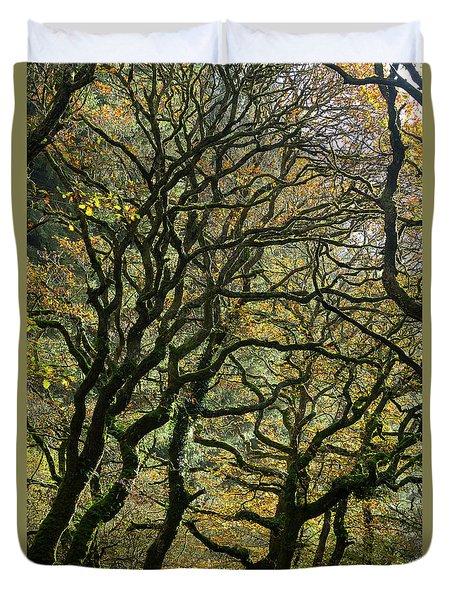 Golden Oaks Duvet Cover
