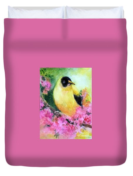Golden Oriole Duvet Cover
