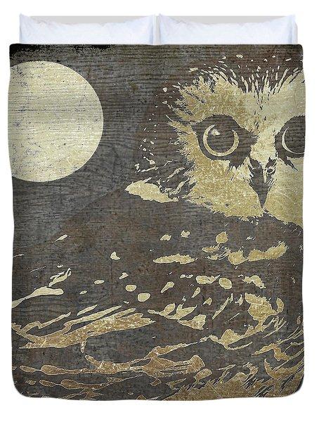 Golden Owl Duvet Cover