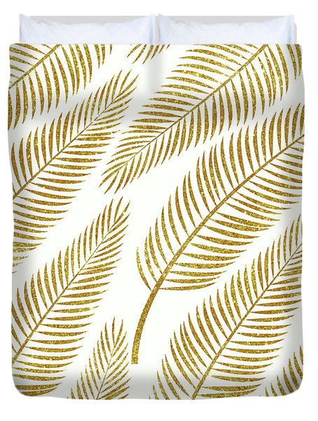 Golden Palm Duvet Cover