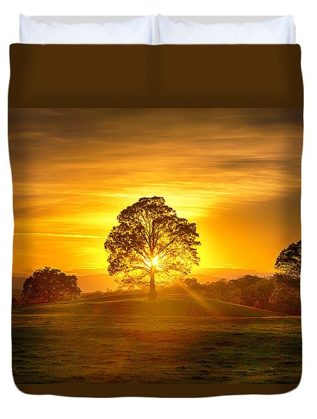 Golden Pastures Duvet Cover