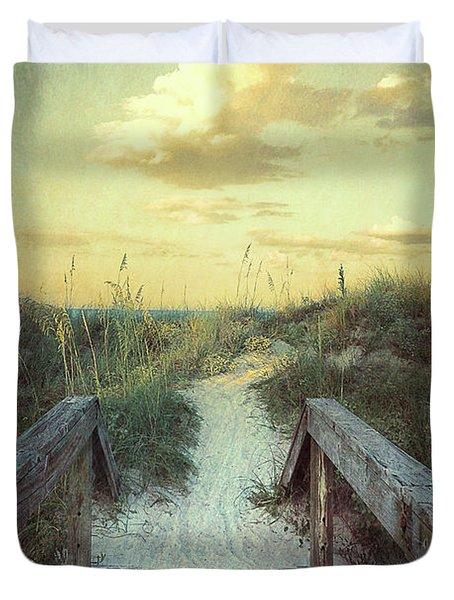 Golden Pathway Duvet Cover