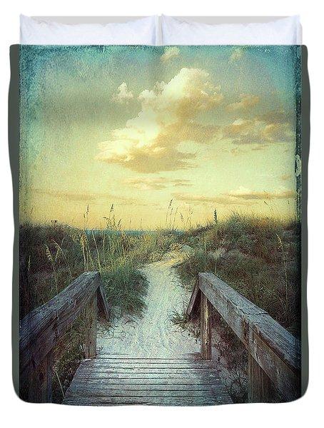 Golden Pathway Duvet Cover by Linda Olsen