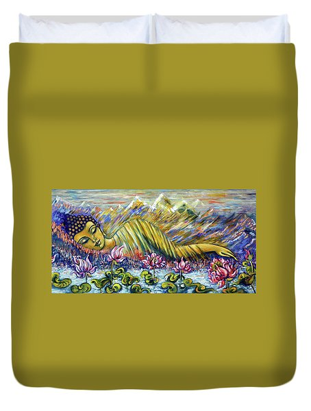 Golden Peace Duvet Cover
