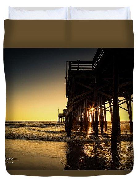 Golden Pier  Duvet Cover