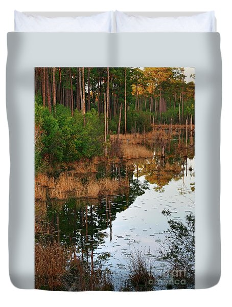 Golden Pond Duvet Cover