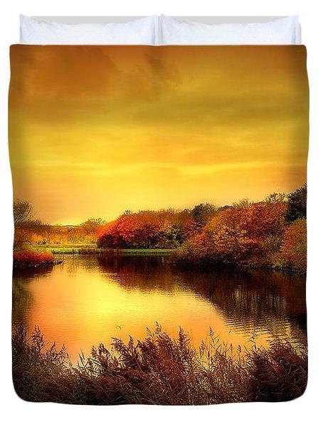 Golden Pond Duvet Cover by Jacky Gerritsen