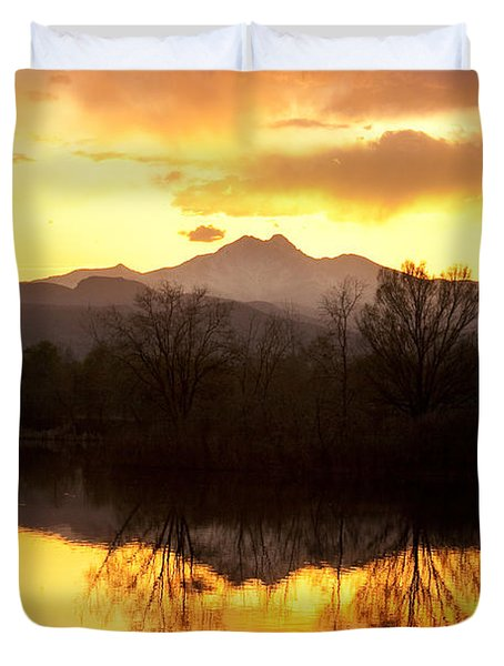 Golden Ponds Longmont Colorado Duvet Cover by James BO  Insogna