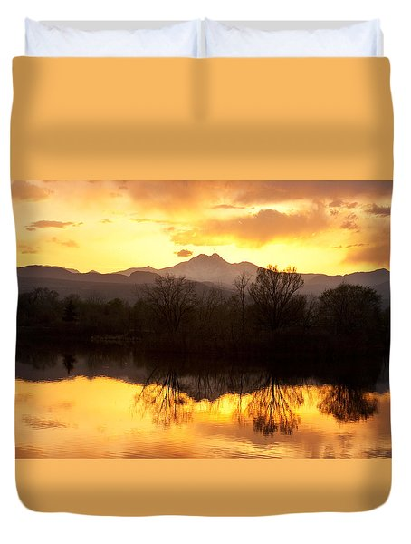 Golden Ponds Longmont Colorado Duvet Cover