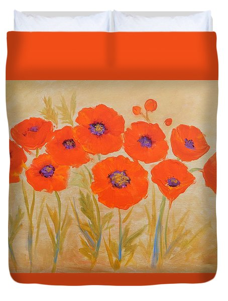 Magical Poppies Duvet Cover