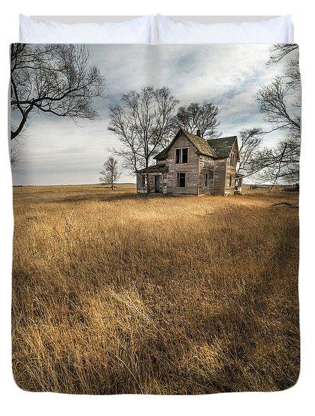 Golden Prairie  Duvet Cover by Aaron J Groen