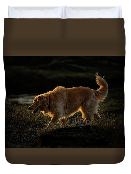 Duvet Cover featuring the photograph Golden by Randy Hall