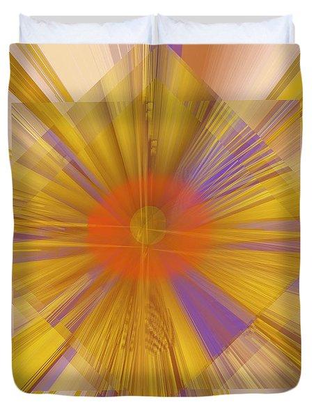 Golden Rays Duvet Cover