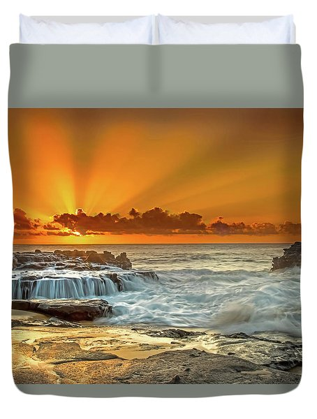Golden Rays Duvet Cover
