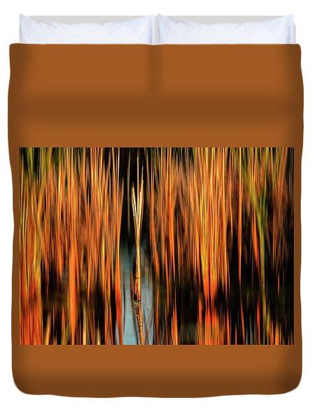 Golden Reeds Duvet Cover