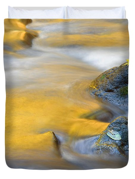 Golden Refuge Duvet Cover by Mike  Dawson