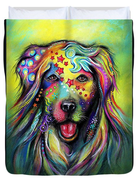 Golden Retriever Duvet Cover by Patricia Lintner