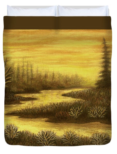 Golden River 01 Duvet Cover