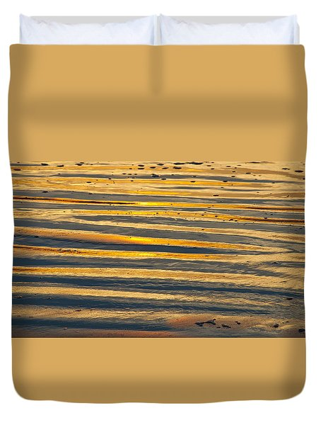 Golden Sand On Beach Duvet Cover