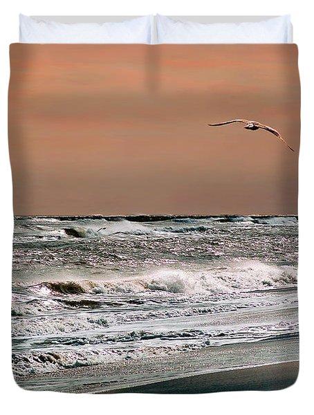 Golden Shore Duvet Cover by Steve Karol
