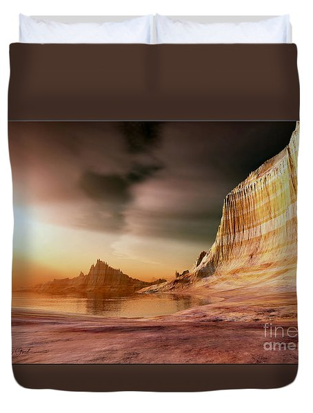 Golden Shores Duvet Cover by Corey Ford
