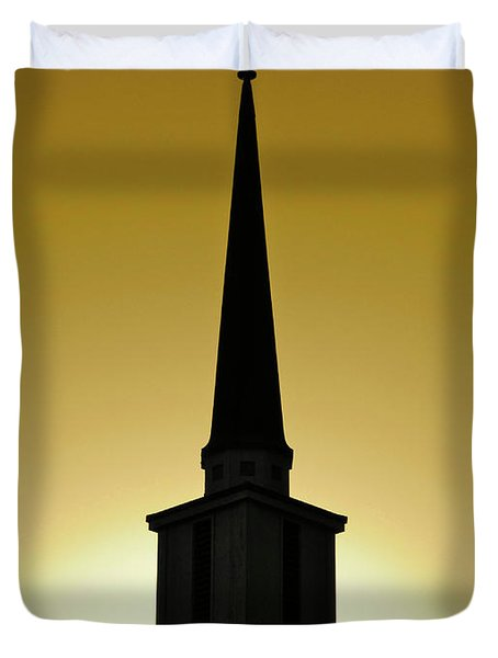 Golden Sky Steeple Duvet Cover by CML Brown