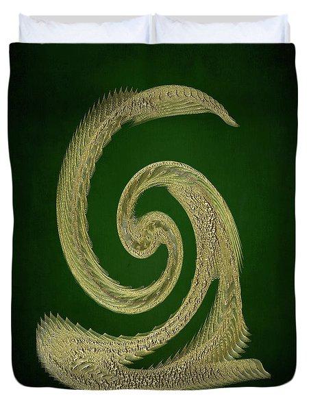 Golden Snake Abstract Duvet Cover