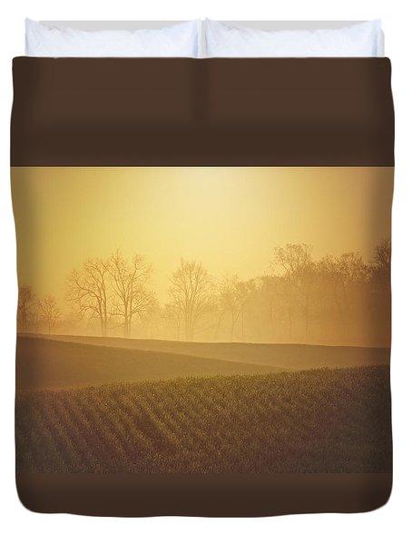 Golden Song Duvet Cover