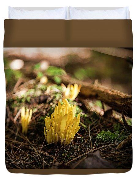 Golden Spindles Duvet Cover