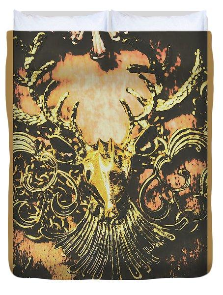 Golden Stag Duvet Cover