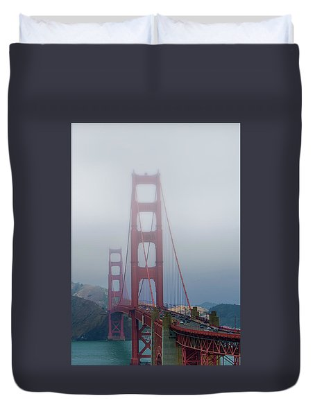 Duvet Cover featuring the photograph Golden State Golden Gate  by Joseph Hollingsworth