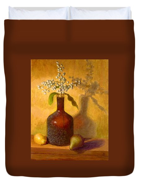 Golden Still Life Duvet Cover